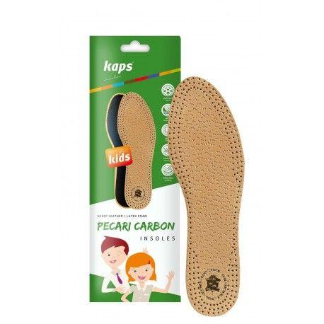 Kinder Schuheinlagen, Einlegesohlen Leder, Pecari Carbon