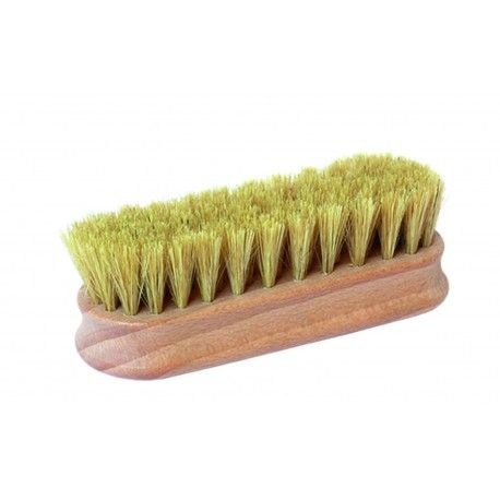 Kleine Polierbürste Glanzbürste mit reinen Naturborsten und Griffkehlen