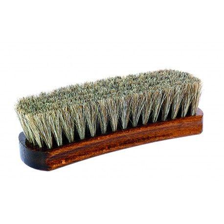 Exklusive Glanzbürste Rosshaarbürste geschweift zum polieren