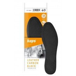Ledereinlegesohle mit Aktivkohle Leather Carbon Black