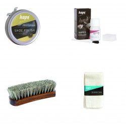 Unser Umfärbe und Pflegeset - Super Color, Shoe Polish, Poliertuch und Bürste