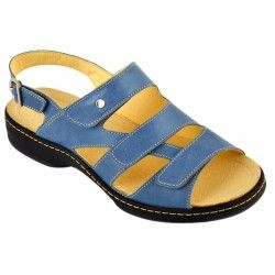 Damis Comfort Shoes, Komfortschuhe, Lederschuhe, Pantolette, Sandalette, Damen Blau Abiona