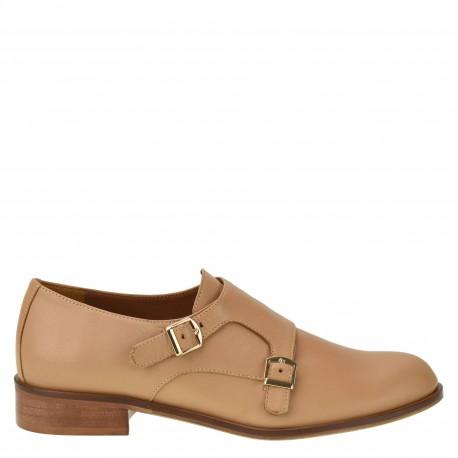 SOLO FEMME DIANA HALBSCHUH LEDER BEIGE Business Schuhe 86,90€